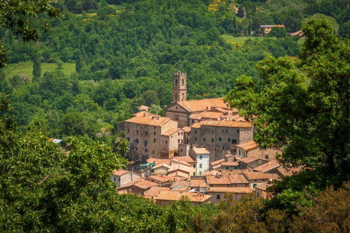 Maremma, Sasso Pisano, ein mittelalterlicher Ort
