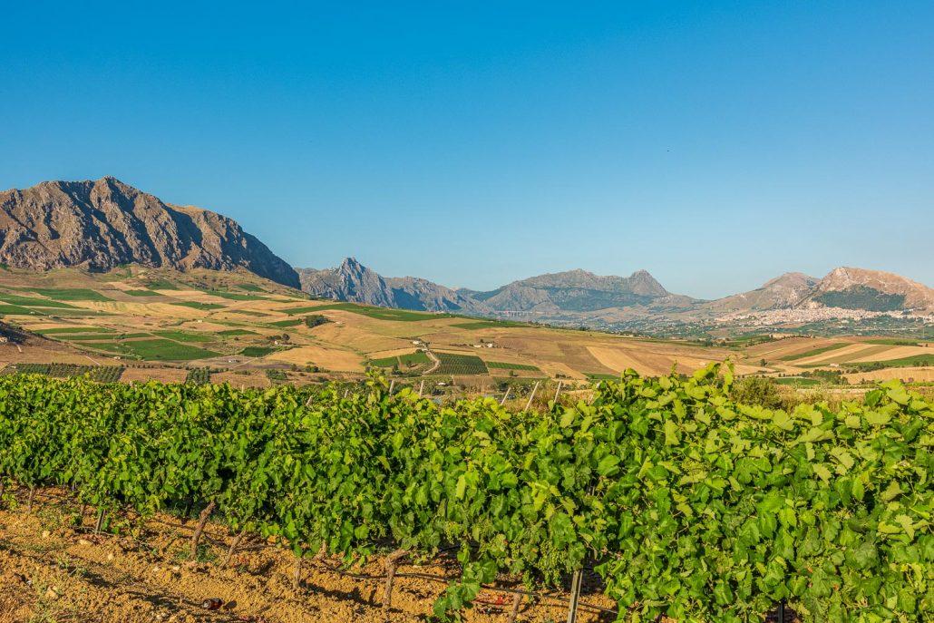 Landschaft in Sizilien