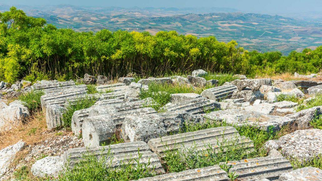 Auf dem Monte Jato