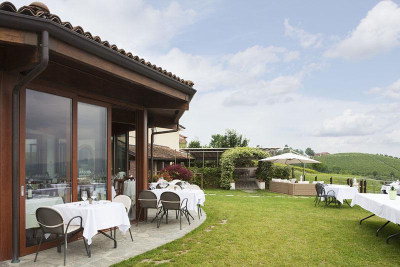 Restaurant der casa nicolini bei barbaresco
