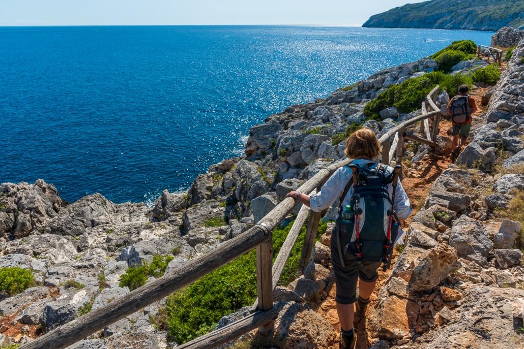 Wandern mit Meerblick im Salento